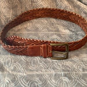 Anne Klein Belt woven tooled boho braided leather
